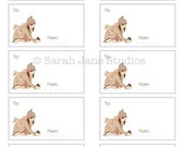 Gift tags and flat cards-Little Visitor-PDF DOWNLOAD