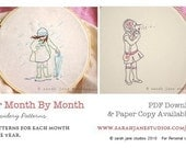 PDF - Embroidery Patterns - Her Month by Month - SET