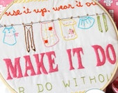 Embroidery Pattern PDF- Make It Do