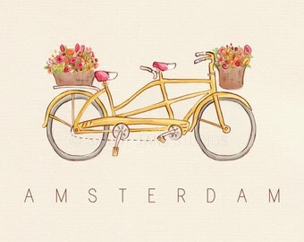 Children's Wall Art Print - Amsterdam - Kids Nursery Room Decor