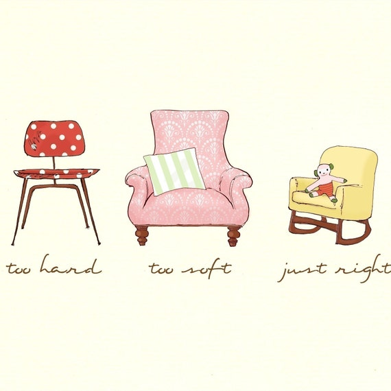 The three bears revisited--girl chairs