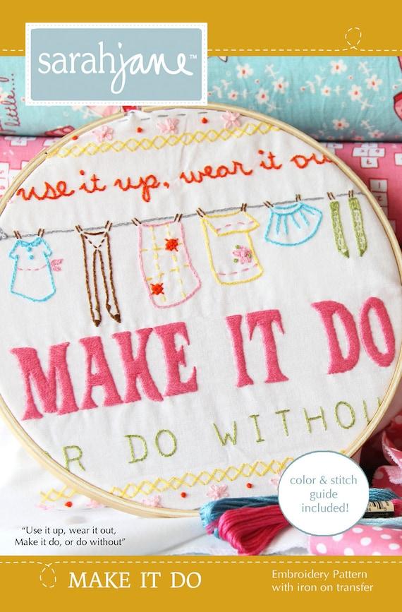 Embroidery Pattern PDF- Make It Do
