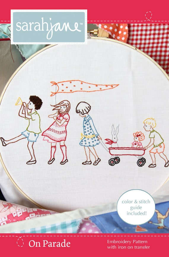 Clearance - Embroidery Pattern Iron-on Transfer- On Parade