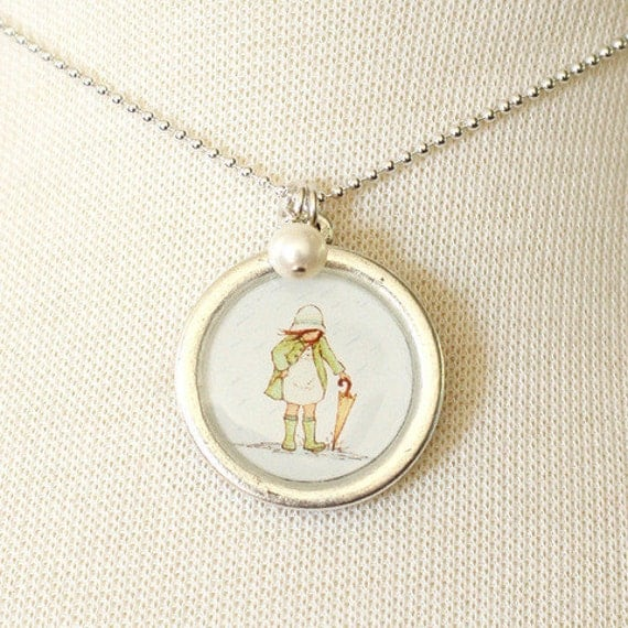 Necklace - April Showers - With Pearl Charm