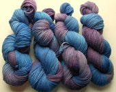 Hand Dyed Worsted Wool--Miami Vice