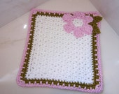 Crochet PATTERN for Luxury Floral Washcloth in PDF Format Number 112