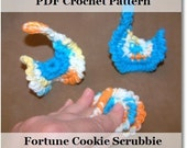 Crochet Pattern for Fortune Cookie Scrubbie in PDF format number 102