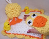 Crochet PATTERN for Everything is Ducky Bath Set in PDF Format Number 106