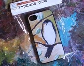 IPhone 4 Case with Bird Painting