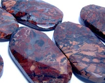 Red Jasper Focal Bead with Facets  53mm  1 piece