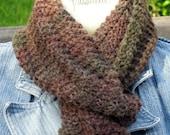 Autumn Woods knit scarf