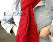 Cinnamon Spice - knit scarf