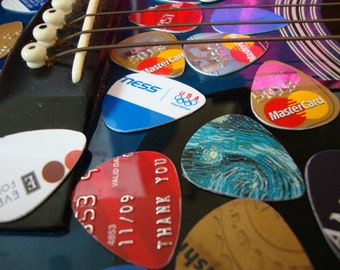SALE - 10 Recycled Guitar Picks