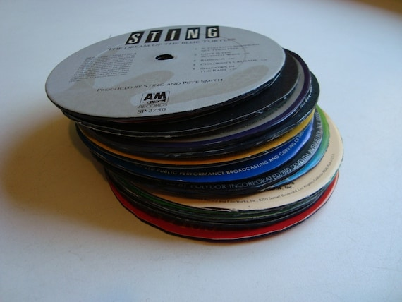 Record Album Coasters - Recycled