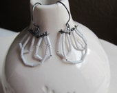 Special order for Ashley. One white bugle beaded and sterling silver earring
