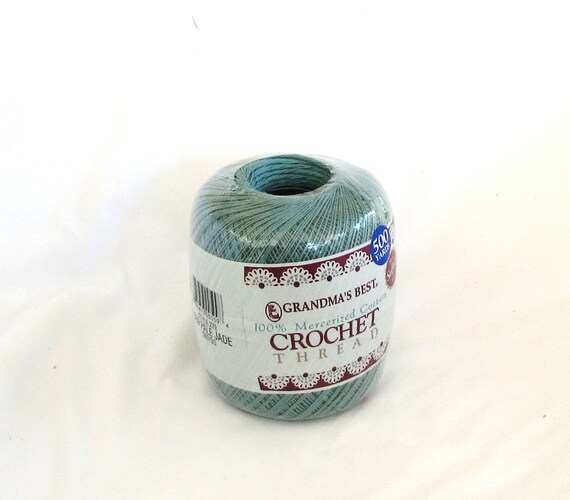 Crochet thread, Grandma's Best, pale jade 509, green, C, destash