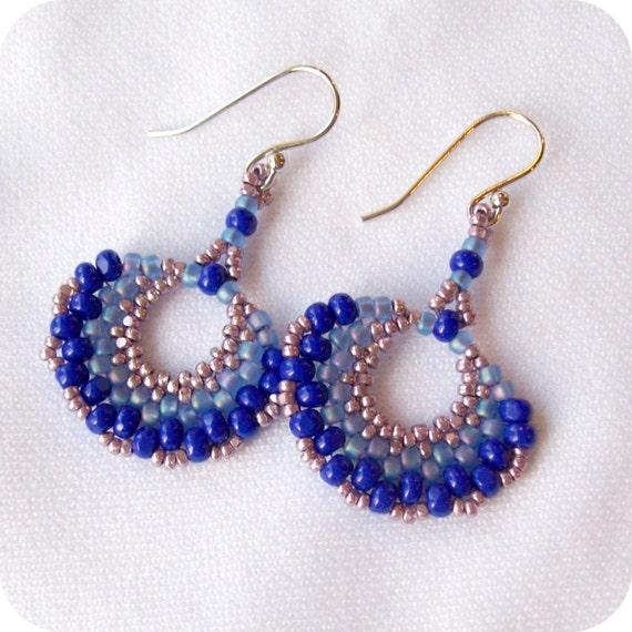 Blue & Purple earrings