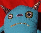 Vintage Turquoise Blue Monster