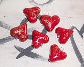 3D Heart Pendant, polymer clay Heart charm, polymer clay heart pendant, clay love, valentine's day, pillow heart, heart sculpture, love you