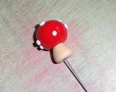 Cute Mushroom Sewing Pins Topper, mushroom stakes, terrarium mushroom, polymer clay mushroom, mushroom pin, kawaii mushroom