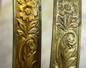 1ft Gallery Wire 8mm Vintage Brass select a size Victorian Art Nouveau Floral Pattern extremely Rare NOS Destash old antique