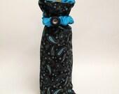 Turquoise Paisley- Wine Bottle Gift Bag