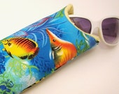Under the Sea - Sunglass Case with Soft Flannel Lining