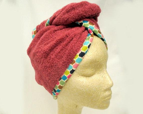 Miss Twist - Mauve Terry Cloth Hair Beauty Wrap - Turban