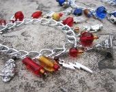 Harry Potter Charm Bracelet - Available in Gryffindor, Ravenclaw, Slytherin & Hufflepuff