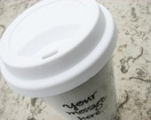 Personalized travel mug with custom message