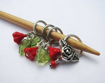 Painting the Roses Red - Non-Snag Stitch Markers