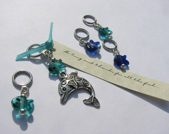 So Long and Thanks For All The Fish - Non-Snag Stitch Markers