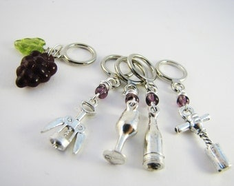 Wine Lovers' Non-Snag Stitch Markers