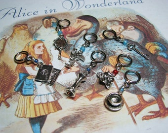 Alice in Wonderland - Non-Snag Stitch Markers