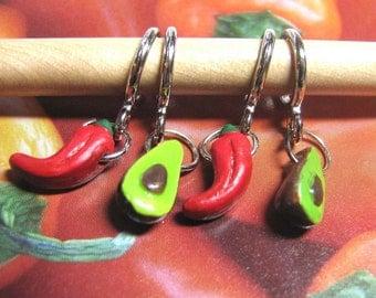 Salsa and Guacamole Stitch Markers
