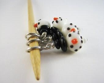 Snowman Non Snag Stitch Markers