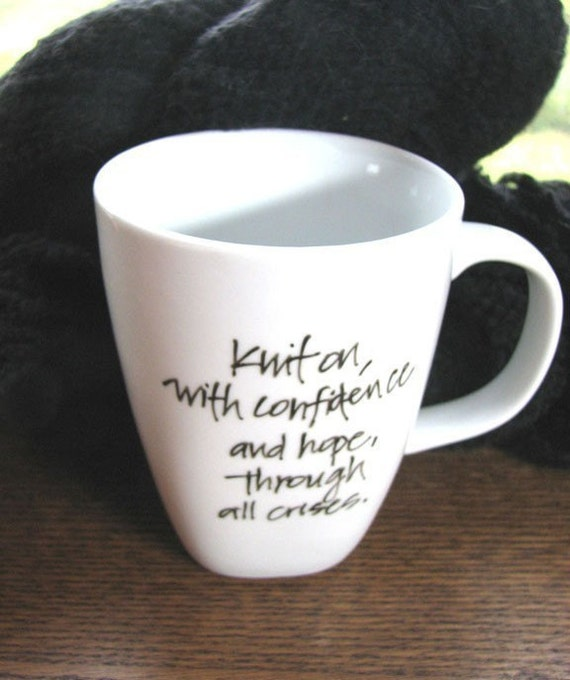 Mug for Knitters - Elizabeth Zimmermannn Quotation