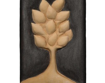 Handsome Lemon Tree Sculptural Painting by Nell Hergenrather