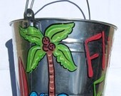 Adorabe bucket with beach theme