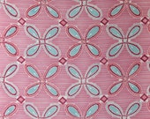 Funky Motifs on Pink & White - Silk Kimono Fabric Yardage