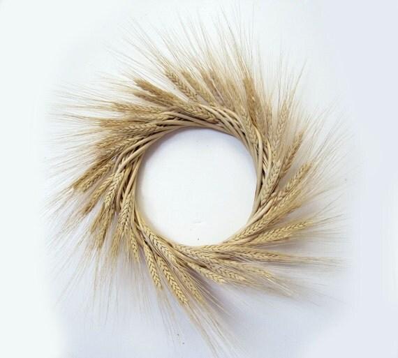 Classic gold wheat dried flower wreath