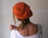Burnt Orange Chunky hat