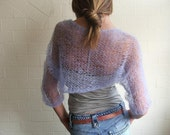 lilac Summer lightweight shrug loose knit summer shrug
