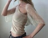 Cream shrug / cream summer shrug / womens shrug knitwear