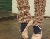 caramel pink ballet leg warmers