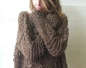 Brown Grunge oversized sweater 2-3 left in this shade
