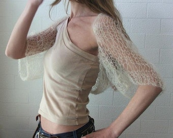 Cream shrug / cream summer shrug / womens shrug knitwear