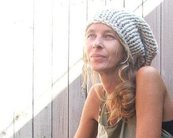 Beige beanie hat / beige chunky hat / Neutral, Ecru  Chunky hand knit Hat .