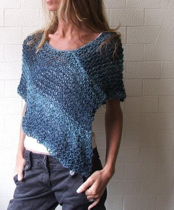 Blue peru Poncho /cape Ltd Edition left in this shade
