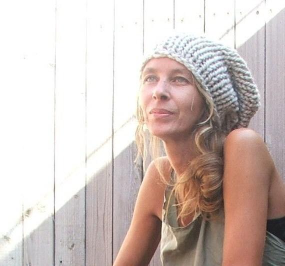 Beige beanie hat / beige chunky hat / Neutral, Ecru  Chunky hand knit Hat . LAST ONE